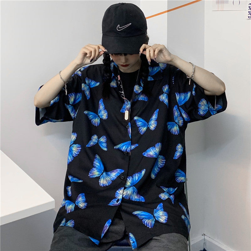 Blue Butterflies S/S Shirt (2 color)