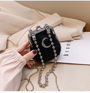 Moon Chain Mini Pouch (Black)