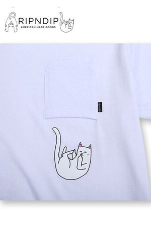 RIPNDIP Falling for Nermal Pocket T-shirt (White)