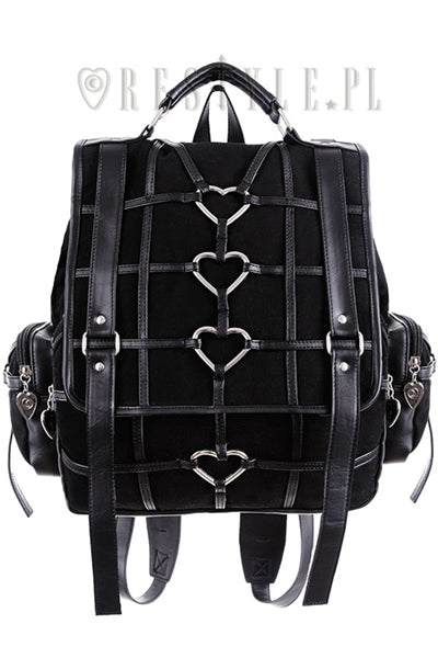 RESTYLE HEAVY HEART BACKPACK - YOU ARE MY POISON