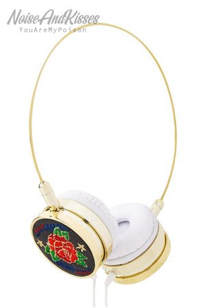 Skinnydip Black Rose Headphones