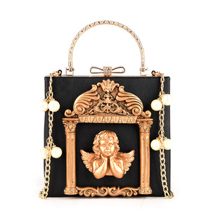 Angel Square Shoulder Bag (Black)