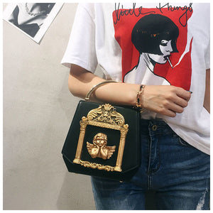 Angel Flap Shoulder Bag (Black)