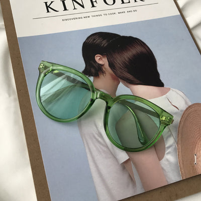 Clear Lens Sunglass (Green)