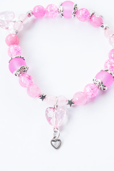 XTS Crystal Heart Bracelet (Light Pink) - YOU ARE MY POISON