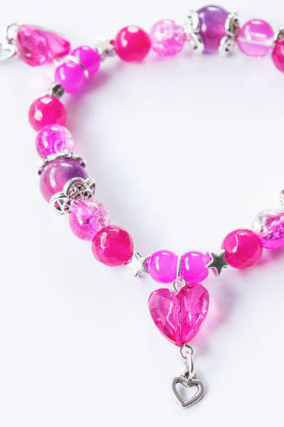 XTS Crystal Heart Bracelet (Pink) - YOU ARE MY POISON