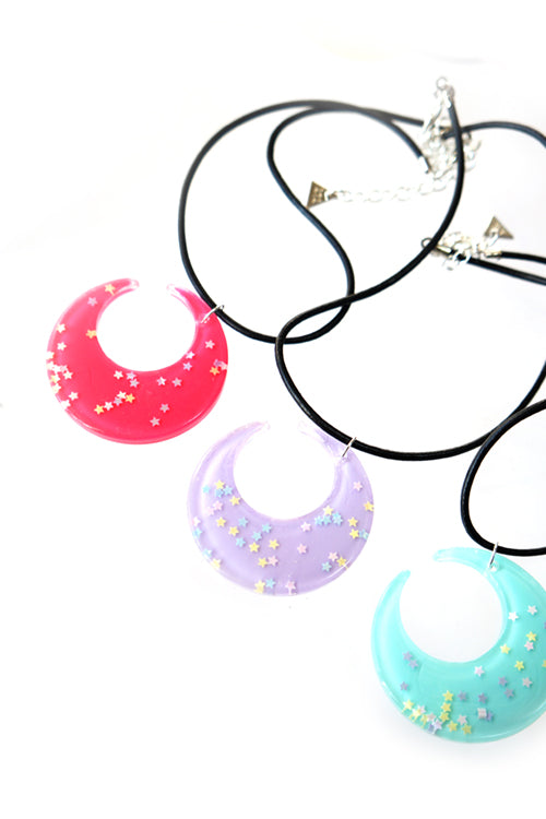 XTS Glitter Moon Choker (6 Colors)