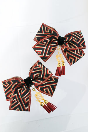 XTS China Ribbon Hair Clip Set 6