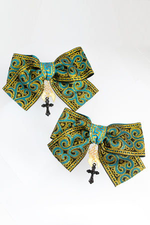 XTS China Ribbon Hair Clip Set 12