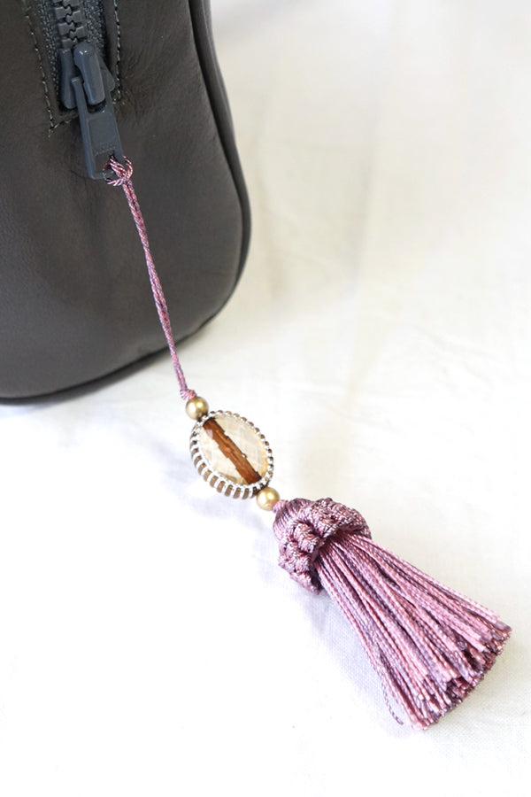 XTS Gray Mini Shoulder Bag(Pink Tassel) - YOU ARE MY POISON
