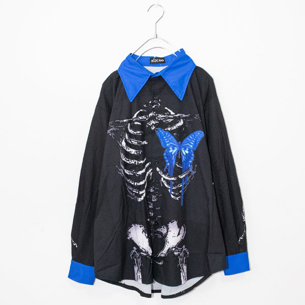 ACDC RAG Skeleton Butterfly L/S Shirt (Black)