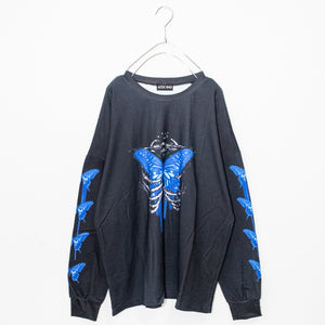 ACDC RAG Skeleton Butterfly L/S T-shirt (Black)