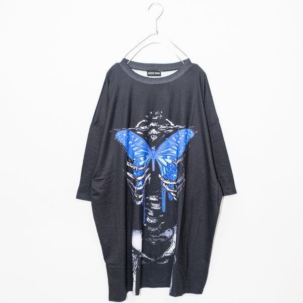 ACDC RAG Skeleton Butterfly Huge T-shirt (Black)
