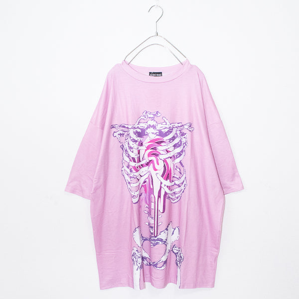 ACDC RAG Skeleton Loli-pop Huge T-shirt (Pink)