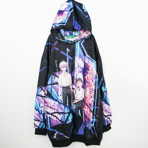 ACDC RAG x Evangelion Kaworu And Shinji Big Hoodie