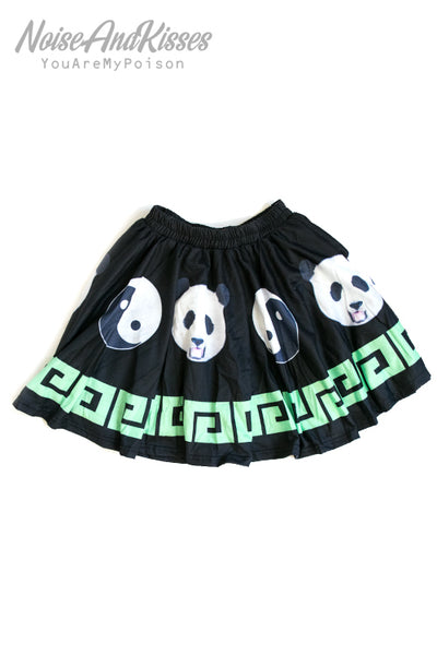ACDC RAG China Panda Mini Skirt (Black)