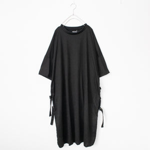 ACDC RAG Oversized Long Side Belt T-shirt Dress (Black)