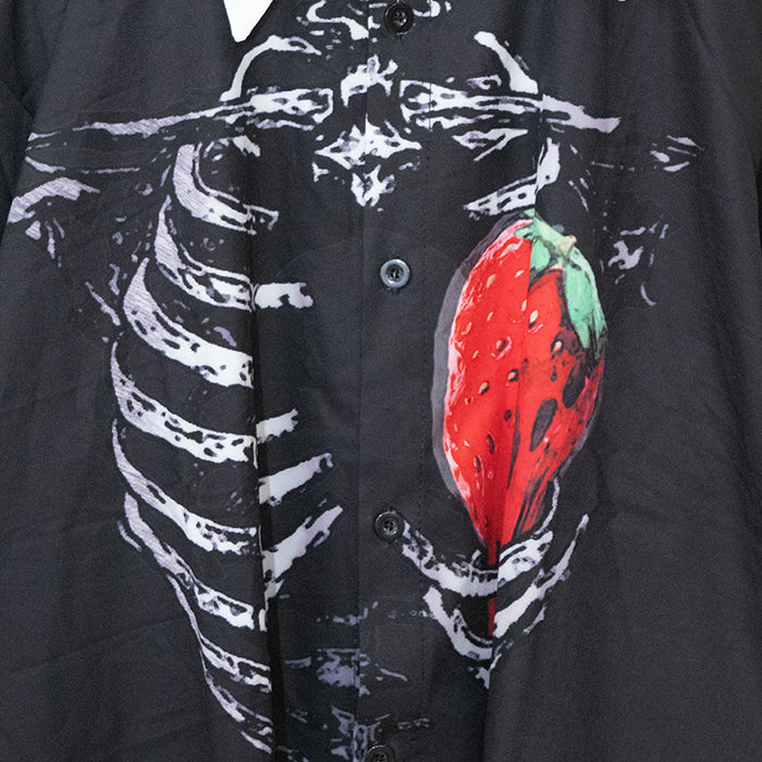 ACDC RAG Skeleton Strawberry L/S Shirt (Black)