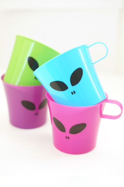 Alien 4 Color Cups Set