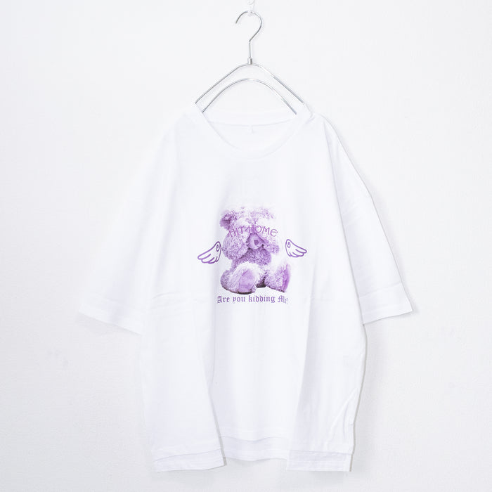 Angel Teddy S/S T-shirt (2 color)