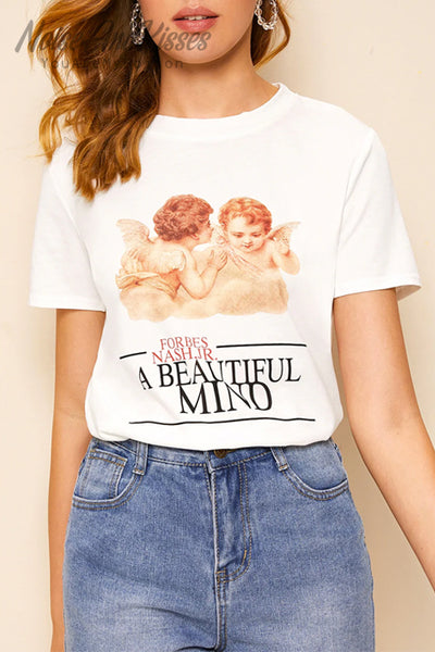 Angel Print T-shirt (White)