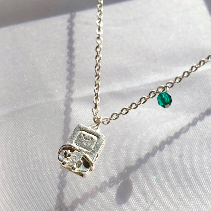 ADVENTURE TIME BMO Necklace (Silver)