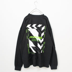 Back Printed L/S T-shirt (Black)