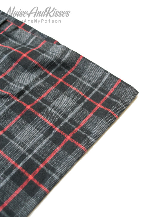 Tartan Check Camisole Long Dress (Gray)