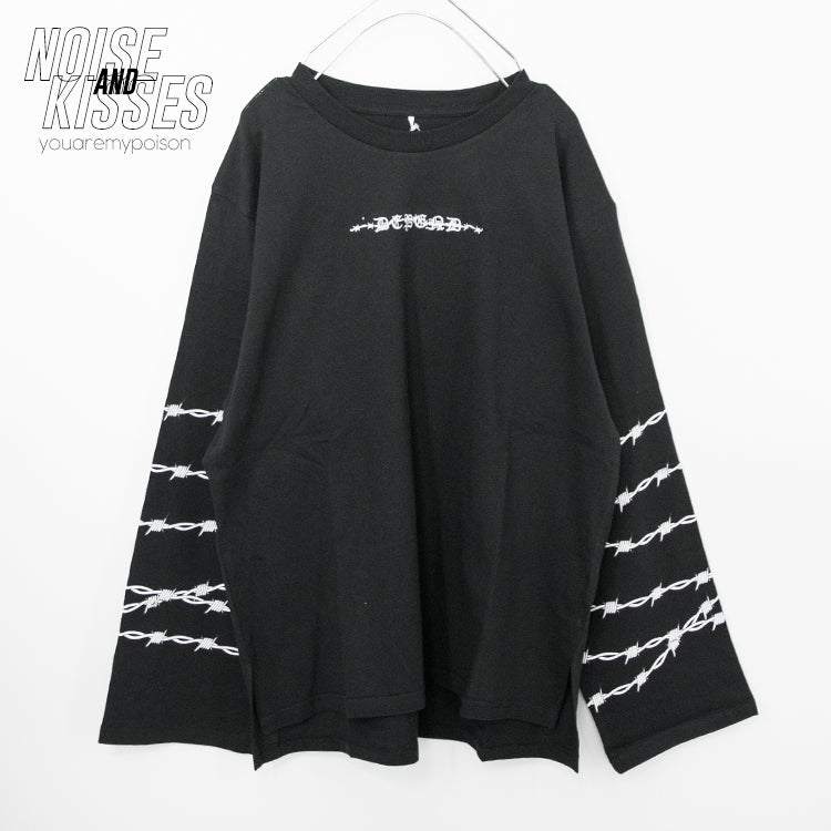 Barbed Wire Sleeve L/S Top (3 color)