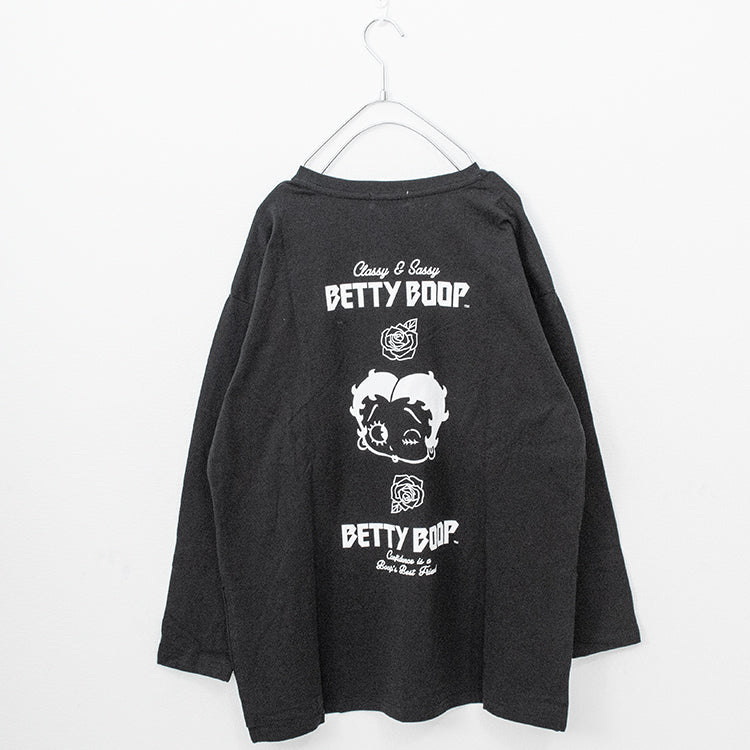 BETTY BOOP Back Print L/S T-shirt (2 color)