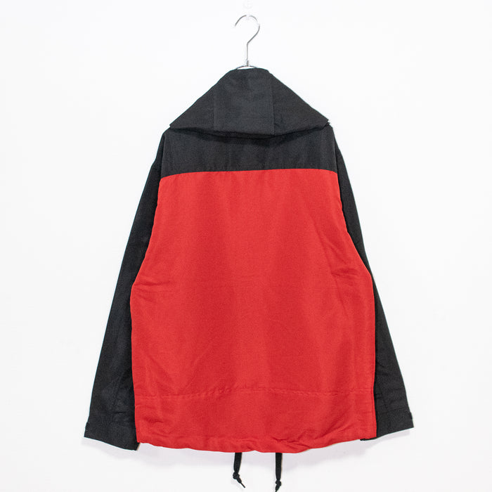Bi-color Mountain Hoodie Jacket (Red/Black)