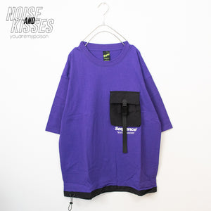 Big Pocket Mens S/S T-shirt (Purple)