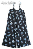 Wide Rompers (Blue Flower)