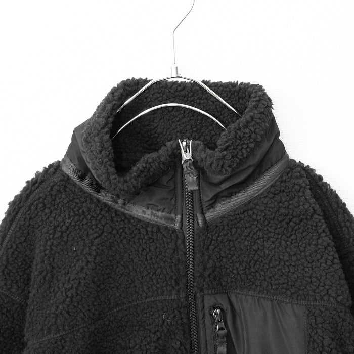 Boa Fleece Pocket Blouson (Black)