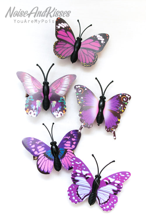 Mini Butterfly Hair Pin Set (4 Colors)