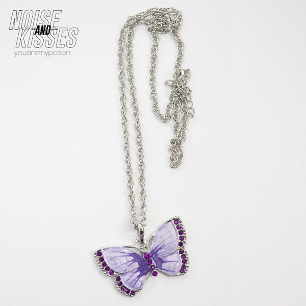 Color Butterfly Necklace (3 color)