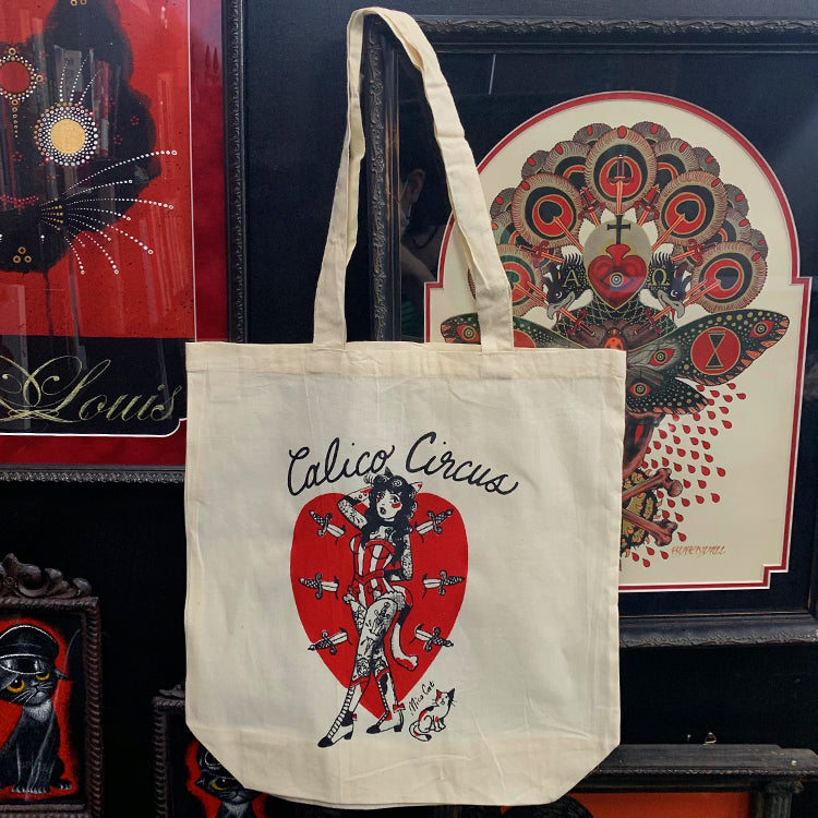 Calico Circus Tattoo The Circus Girl Tote Bag