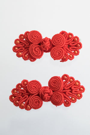 XTS China Button Hair Pin 2pcs Set (4 Colors)