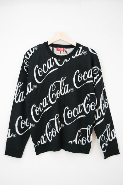 Coca-Cola Official Logo Knit Top (Black)