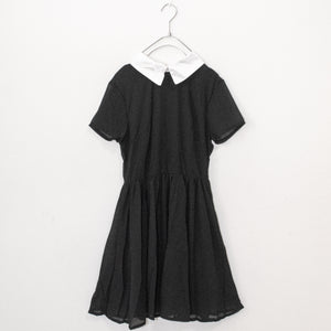 Collar Chiffon Dress (Black)