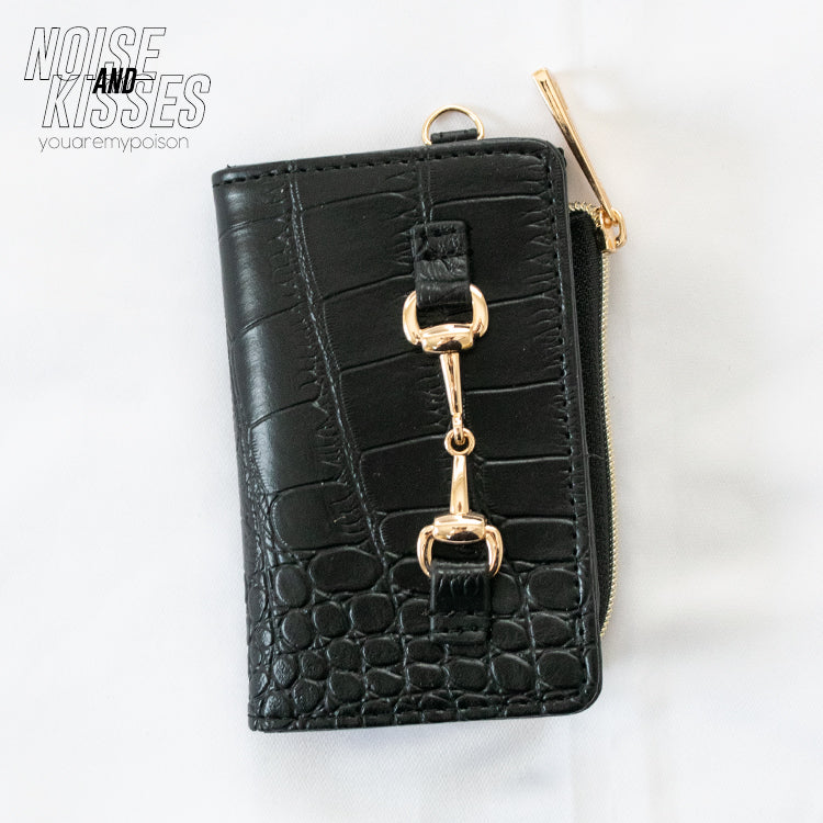 Key Case w/Coin Case (Crocodile Black)