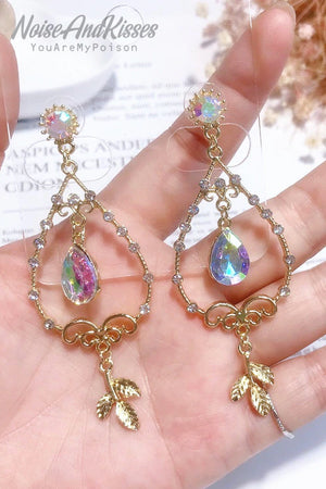 Crystal Tear Drop Pierce