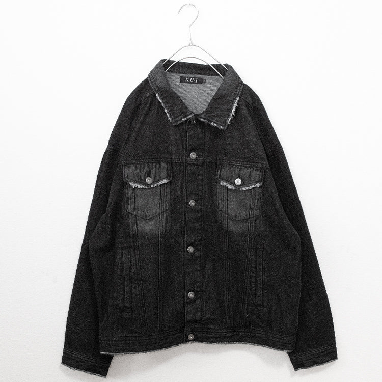 Paisley Denim BIG Jacket (Black)