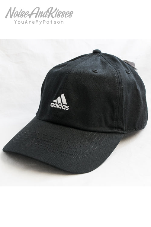 adidas Point Logo Embroidery Cap (Black)