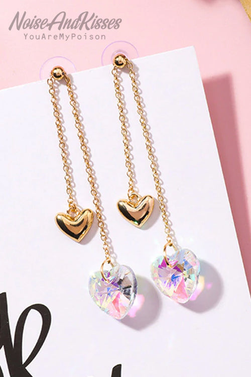 Double Heart Chain Pierce (2 Color)