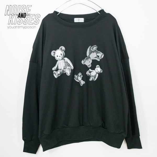 Drug Honey Skeleton Teddy Printed Sweatshirt (86-5808)