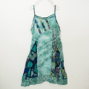 Tropical Relaxation Tie Dye Camisole Dress (Green)