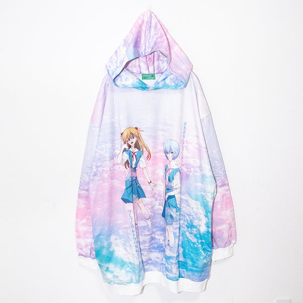 ACDC RAG x Evangelion Rei And Asuka Big Hoodie