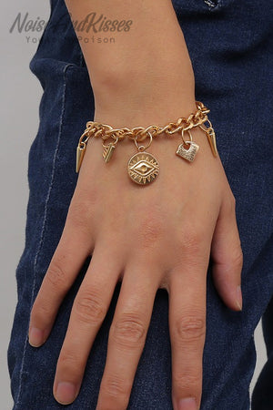 Evil Eye Chain Bracelet (2 color)