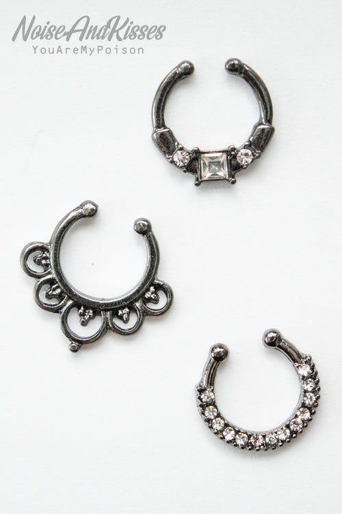 Fake Septum Set (Black)